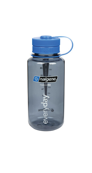 Nalgene Everyday wide-mouth Pillid Drinkfles 1000ml grijs